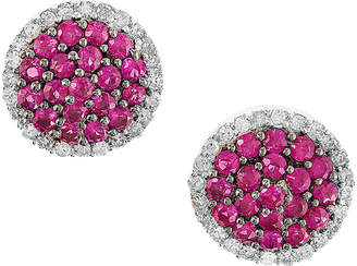 Effy Fine Jewelry 14K 0.78 Ct. Tw. Diamond & Ruby Studs