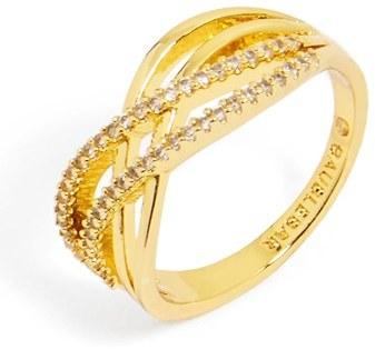 Women's Baublebar 'Luda' Pave Crystal Ring