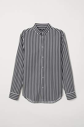 H&M Cotton Shirt Regular fit - Black
