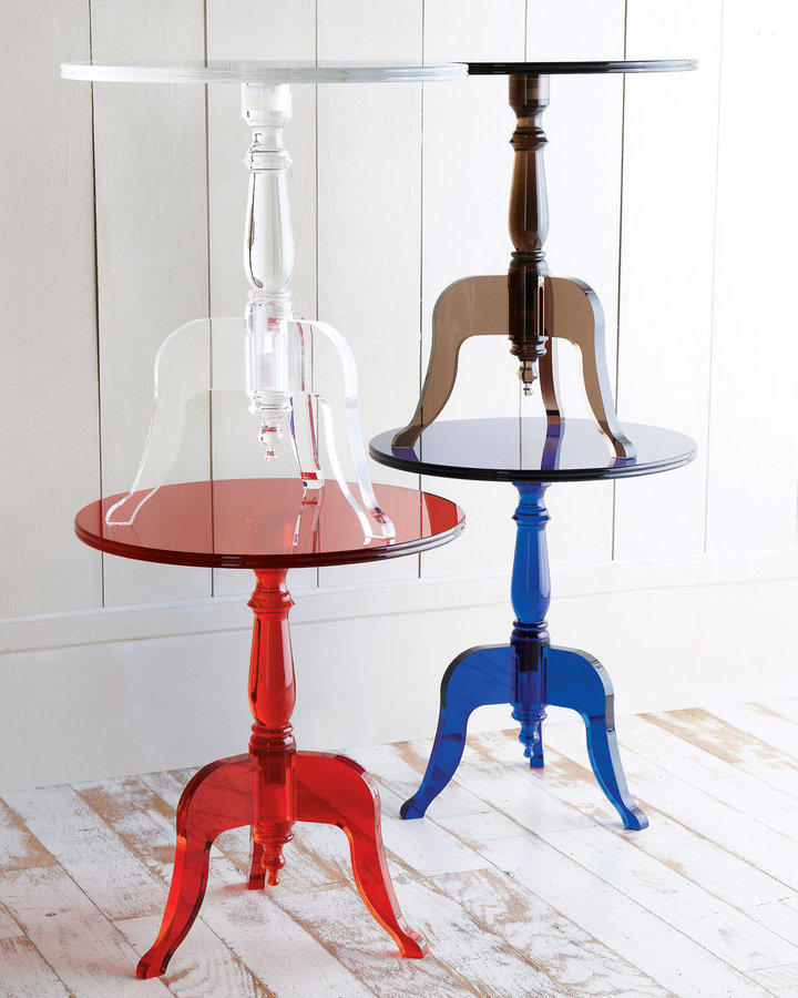 Horchow Acrylic Side Table