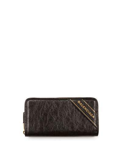 Balenciaga  Balenciaga Blanket Arena Leather Continental Wallet