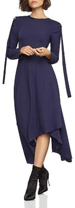 BCBGMAXAZRIA Asymmetric D-Ring-Tab Dress