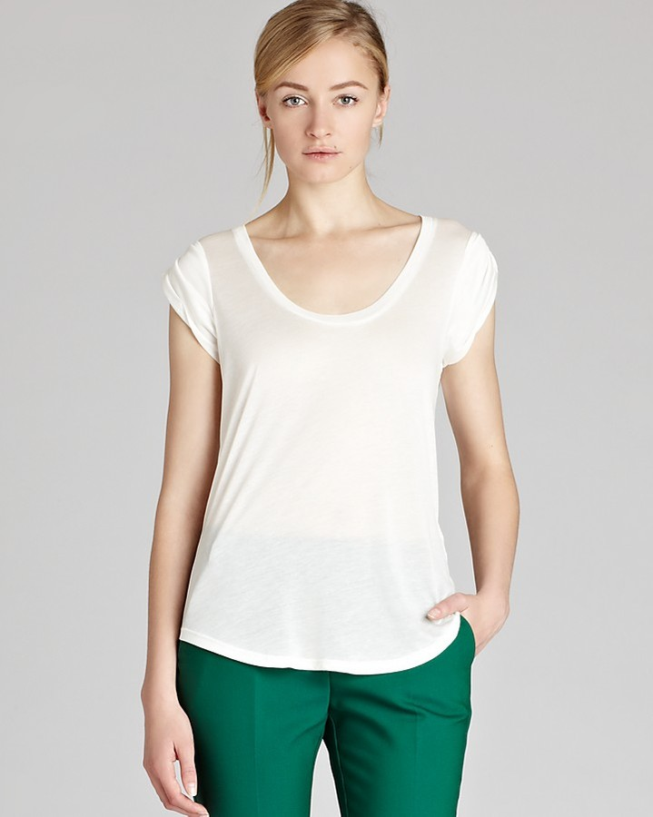 REISS Top - Harley Twisted Sleeve Jersey