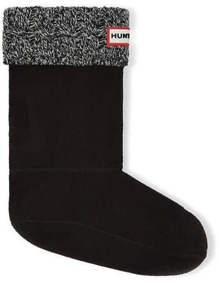 Hunter Boots Women's 6 Stitch Cable Short Boot Sock Blk/Gry MD M US