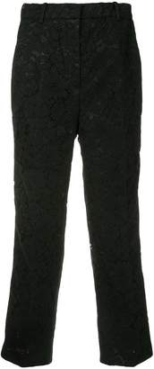 No.21 cropped lace trousers