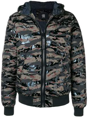 G Star camouflage puffer jacket