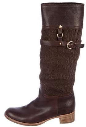 Miu Miu Woven Knee-High Boots