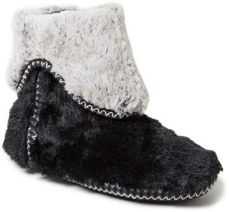 Dearfoams Women's Faux Fur Fold-Down Boot Slippers