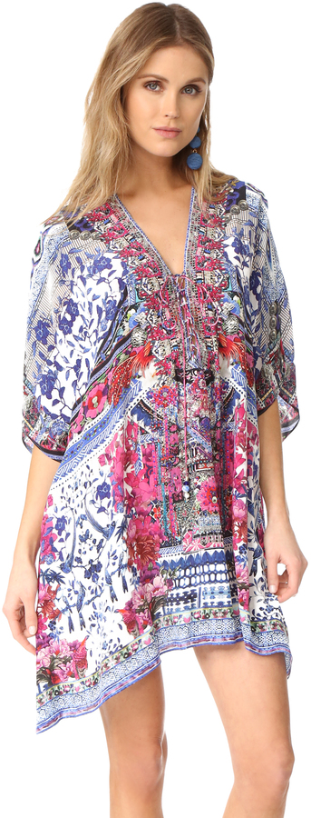 CamillaCamilla From Kaili With Love Short Lace Up Caftan