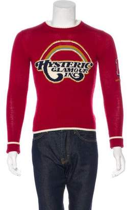 Hysteric Glamour Intarsia Knit Crew Neck Sweater