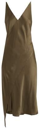 Rachel Comey Twilight asymmetric-hem satin slip dress