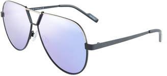 Quay Supernova Aviator Metal Sunglasses, Black/Purple