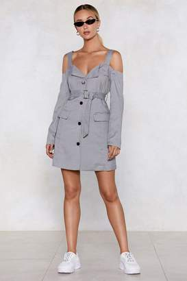 Nasty Gal Cut a Check Cold Shoulder Dress