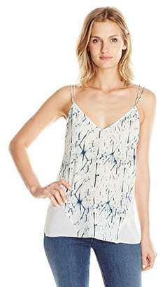 Dolce Vita Women's Washed Silk Shattered Ice Printed Bo Cami Tank Top