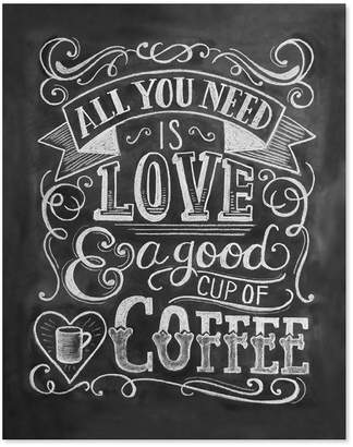 "Lily And Val LOVE AND COFFEE ART PRINT- 8"" x 10"""