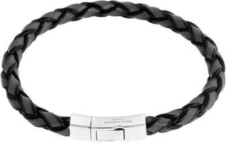Tateossian Men's Braided Leather Silver Bracelet, Black $325 thestylecure.com