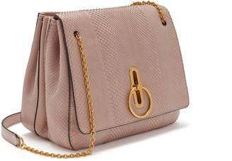 Mulberry Marloes Satchel Ballerina Pink Python with Satin Finish