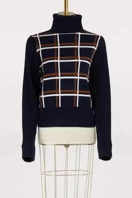 Vanessa Seward Plaid turtleneck sweater