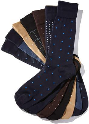 Neiman Marcus Three-Pair Mult-Printed Socks