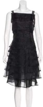 Fendi Silk Tiered Dress