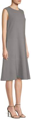 Lafayette 148 New York Colby Chain Detail A-Line Dress
