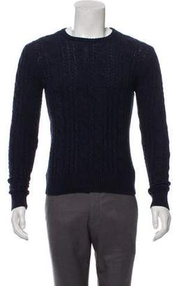 Todd Snyder Cable Knit Crew Neck Sweater