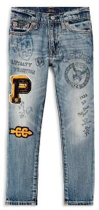 Ralph Lauren Boys' Sullivan Slim-Fit Jeans with Doodles & Patches - Little Kid