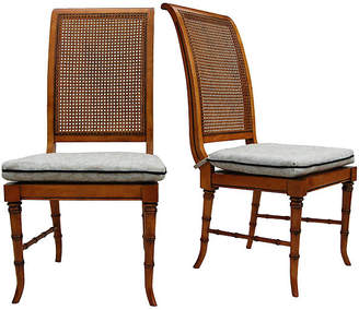 One Kings Lane Vintage Faux-Bamboo & Cane Chairs - Set of 2 - Cannery Row Home
