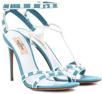 Valentino Free Rockstud Spike suede sandals