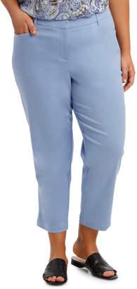 Stretch Cotton Blend Crop Pant