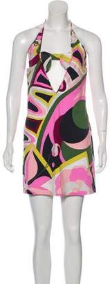 Emilio Pucci Abstract Print Halter Dress