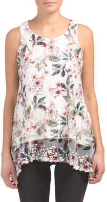 Mixed Novelty Overlay Floral Swing Tank