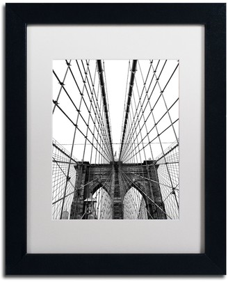 "Trademark Fine Art ""Brooklyn Bridge 3"" Framed Canvas Wall Art"