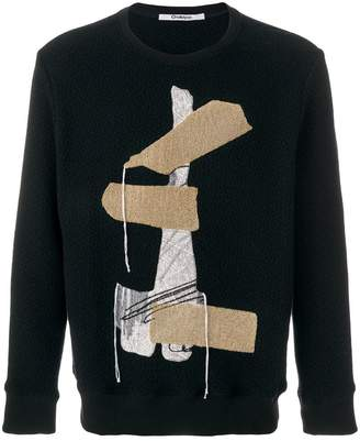 Chalayan Blanket embroidered jumper