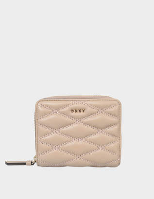DKNY Diamond Quilt small carryall wallet
