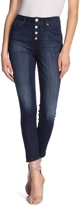 Seven7 Ultra High Rise Button Front Skinny Jeans