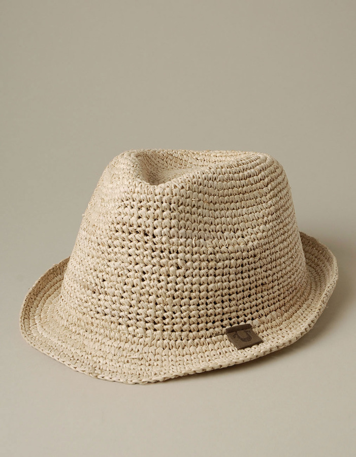 Women's Raffia Fedora - Natural
