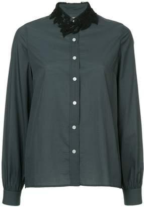 Kolor lace collar shirt