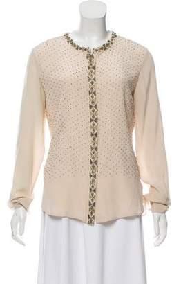 Antik Batik Embellished Silk Button-Up