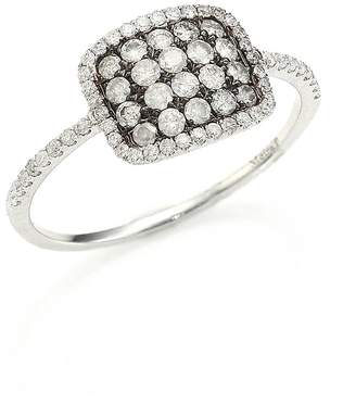 Meira T Women's Diamond & 14K White Gold Cushion Ring