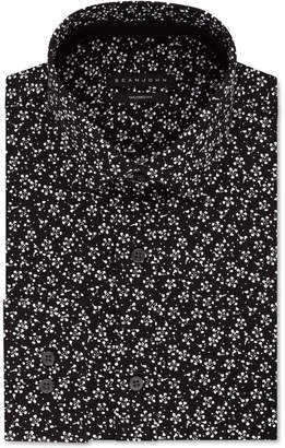 Sean John Men's Classic/Regular Fit Contrast Floral Print Dress Shirt
