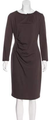 Armani Collezioni Long Sleeve Midi Dress