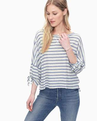 Splendid Cotton Slub 3/4 Sleeve Dolman Striped Tee