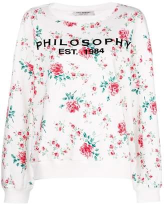 Philosophy di Lorenzo Serafini floral print jersey sweater