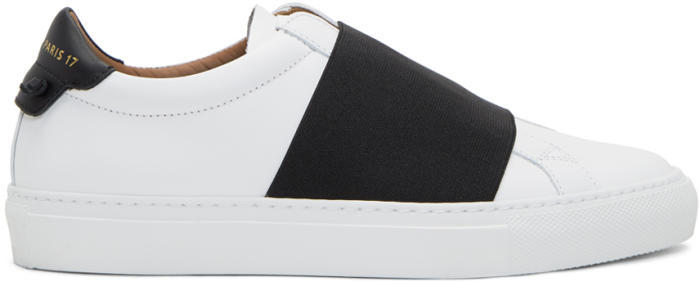 Givenchy White and Black Urban Elastic Knot Sneakers