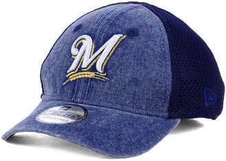 New Era Boys' Milwaukee Brewers Jr Hooge Neo 39THIRTY Cap