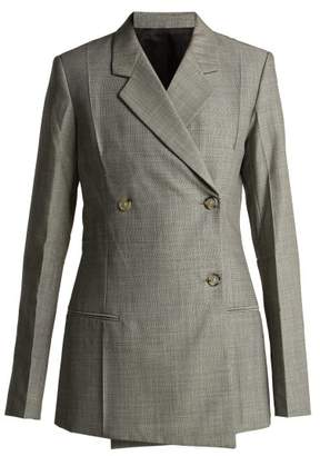Helmut Lang Tailored Wool And Mohair Blend Blazer - Womens - Grey
