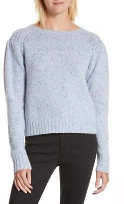 Rebecca Taylor Donegal Merino Wool Blend Tweed Pullover