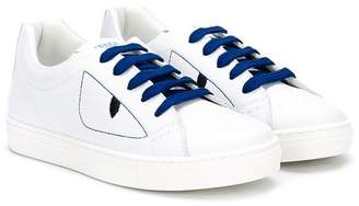 Fendi embroidered lace-up sneakers