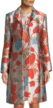 Etro Cloqué Coat w/ Frog Closure